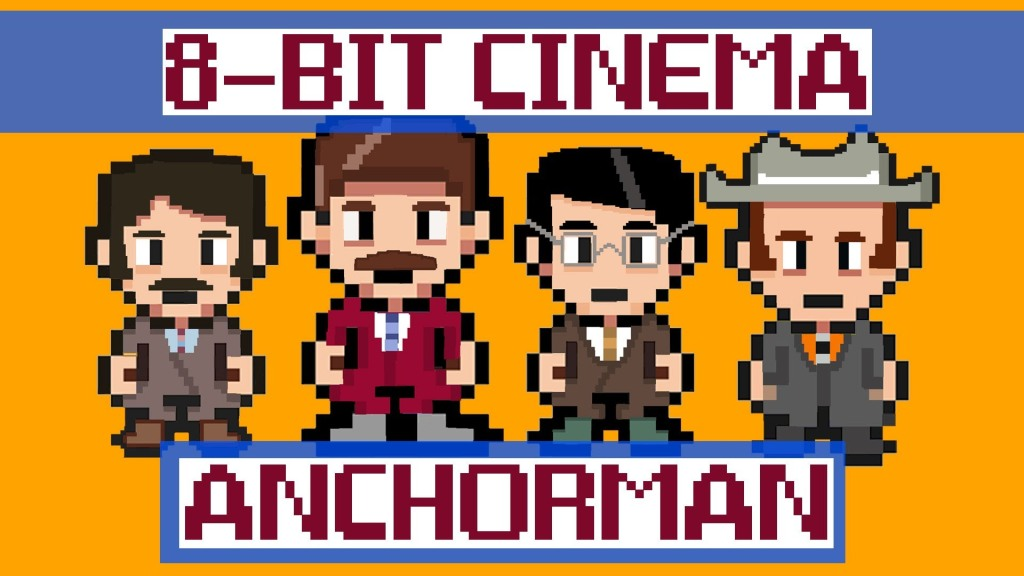 8 Bit Cinema: Anchorman Retold in 3 Animated Minutes