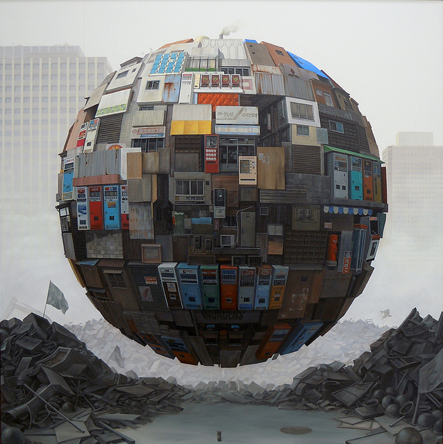 Ramshackle orb paintings by Sashie Masakatsu
