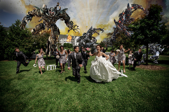 Transformers attack Bridal Party