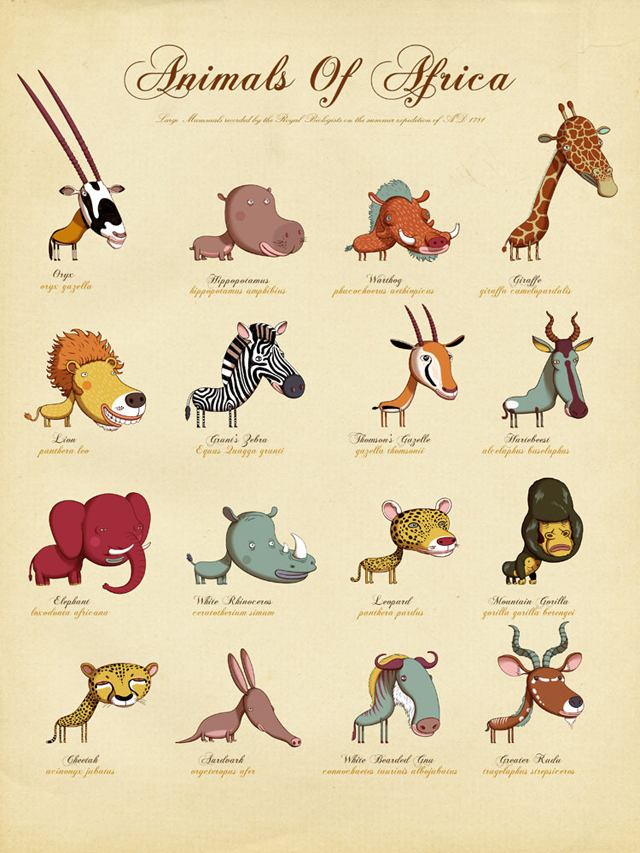 Animals Of Africa by Andy Ward