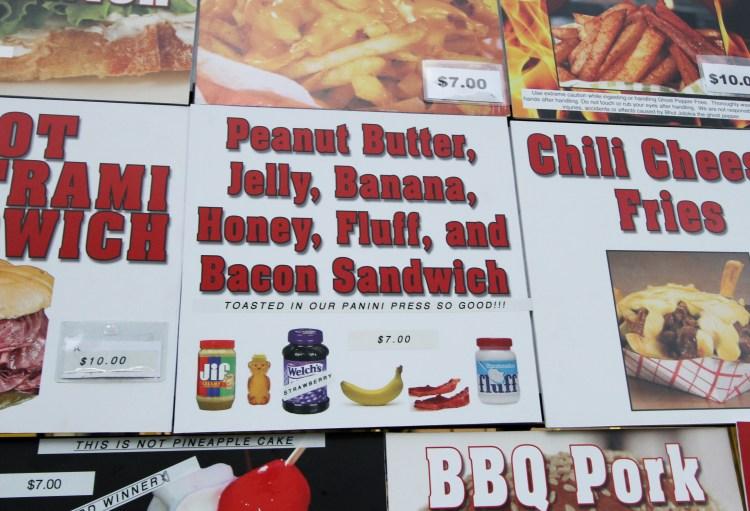 Peanut Butter, Jelly, Banana, Honey, Bacon, and Marshmallow Fluff Panini Sandwich