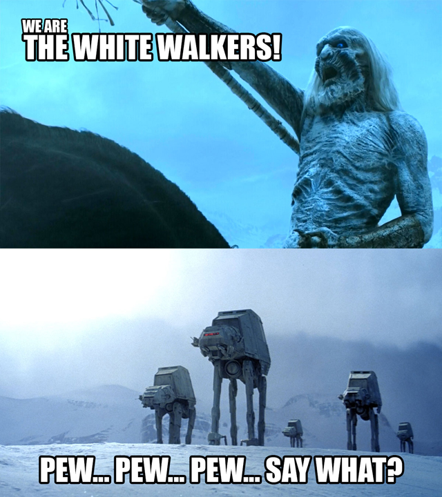 10 Funny Star Wars vs Game of Thrones Stories!