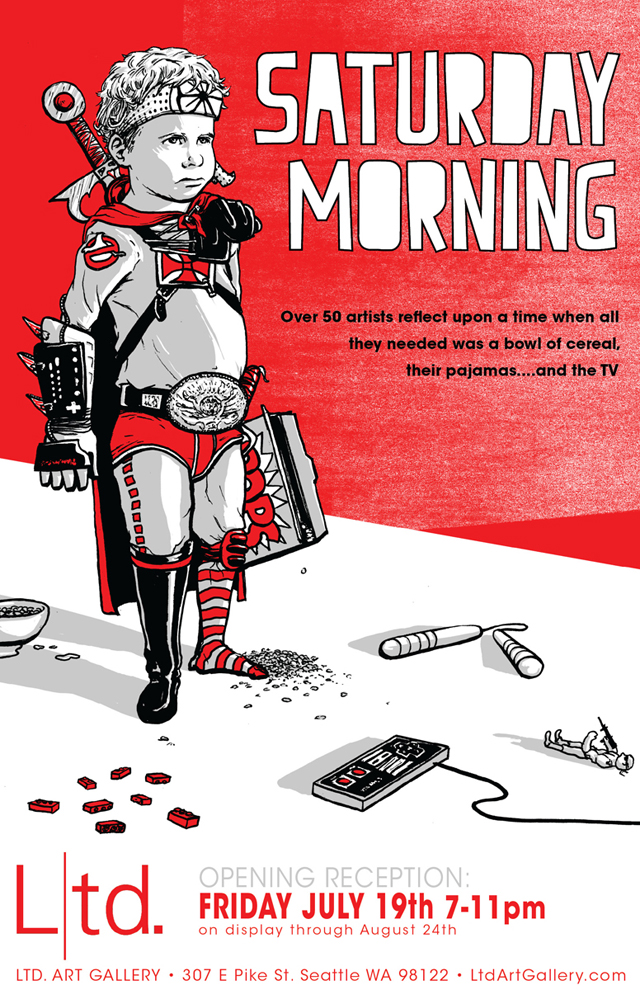 Saturday Morning poster by Barry Blankenship