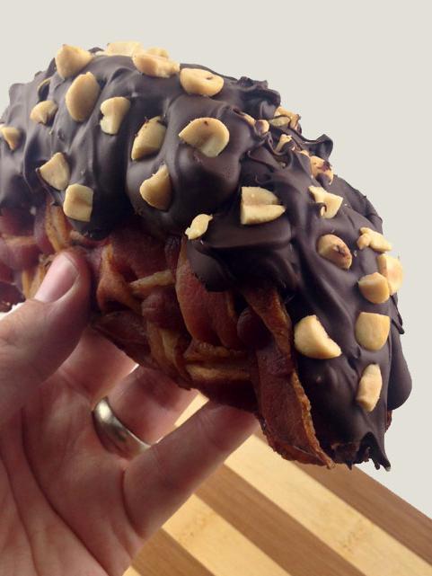 Bacon Weave Choco Taco