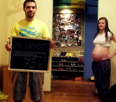 Couple Makes Creative Stop Motion Time-Lapse Pregnancy Video