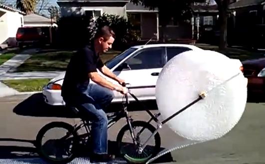 A Bike That Both Dispenses & Pops Bubble Wrap As You Ride It