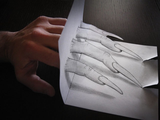 easy 3d drawings on paper - photo #11