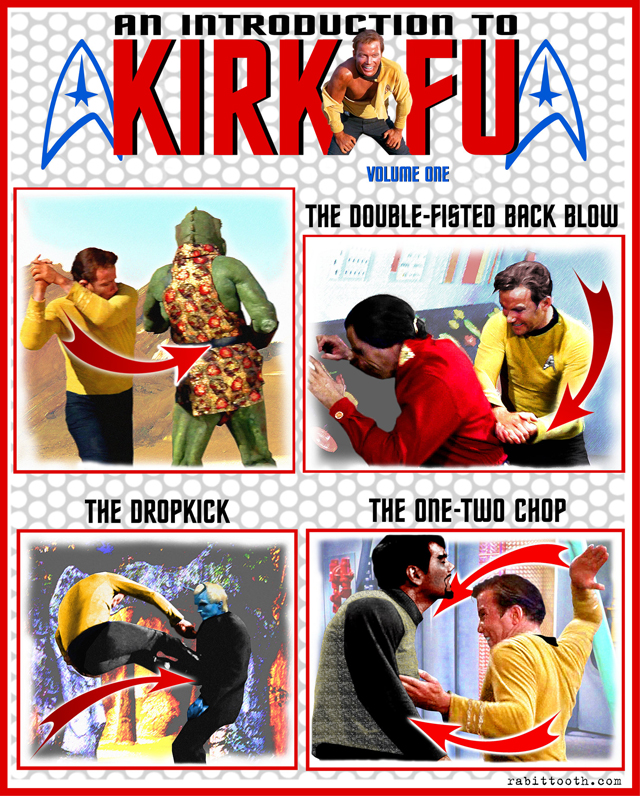 A Chart Visualizing the Extraordinary 'Kirk-Fu' Fighting Style of Star Trek's Captain Kirk