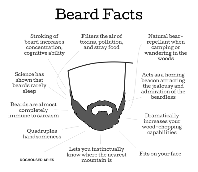 beard facts male grooming inforgraphic