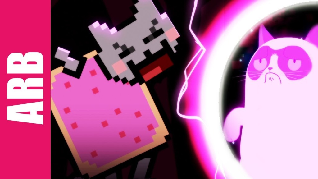 Grumpy Cat And Nyan Cat Face Off In An Animated Rap Battle