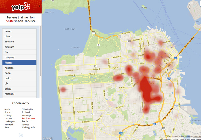 Hipster Heat Maps on Yelp