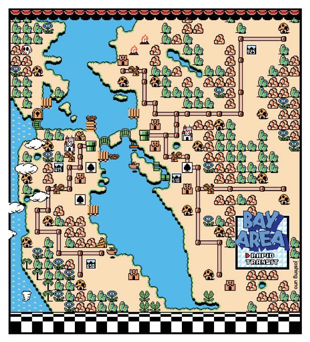 8-bit BART map
