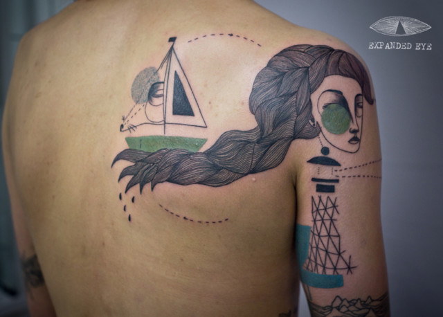 Beautiful Illustration Tattoos by Expanded Eye