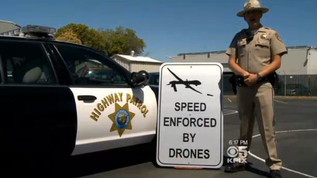 Speed Enforced by Drones