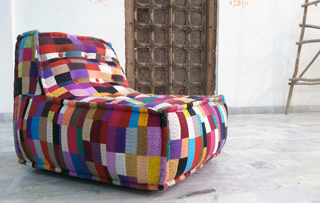 Patchwork Lounge A Colorful Comfy Lounge Chair by SOBU