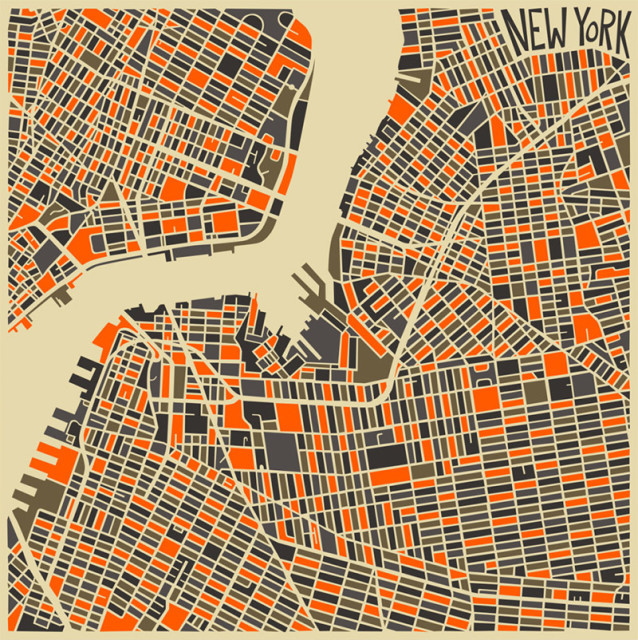 Colorful Abstract City Maps