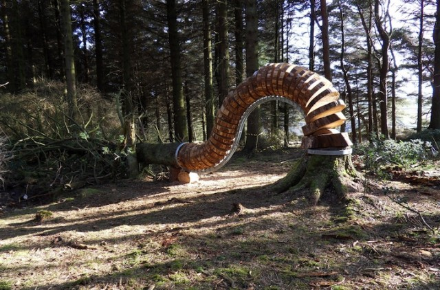 'Reconnected' Sculptures Turn Felled Trees Into Outdoor Art