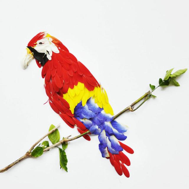 Flower petal bird art by Hong Yi