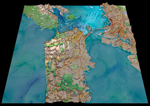 Topographic tweet maps