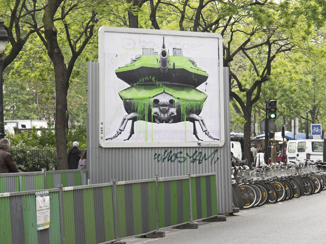 weaponized nature street art by ludo. Black Bedroom Furniture Sets. Home Design Ideas