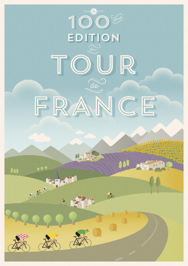 Tour de France Poster by Veerle Pieters