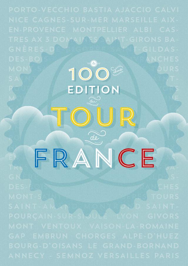 Tour de France Poster by Veerle Pieters