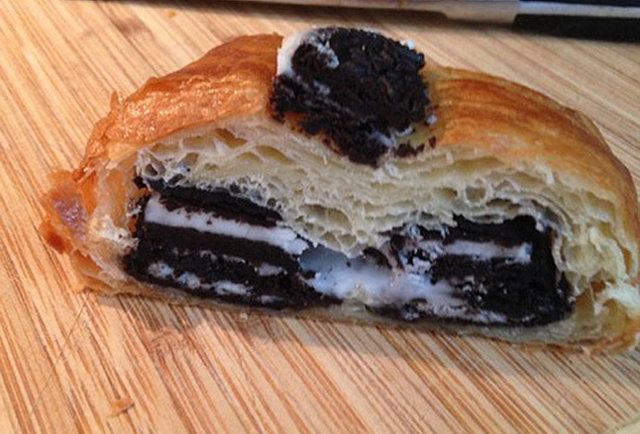 The Crookie, Toronto Cafe Packs a Croissant With Double Stuf Oreos and Icing
