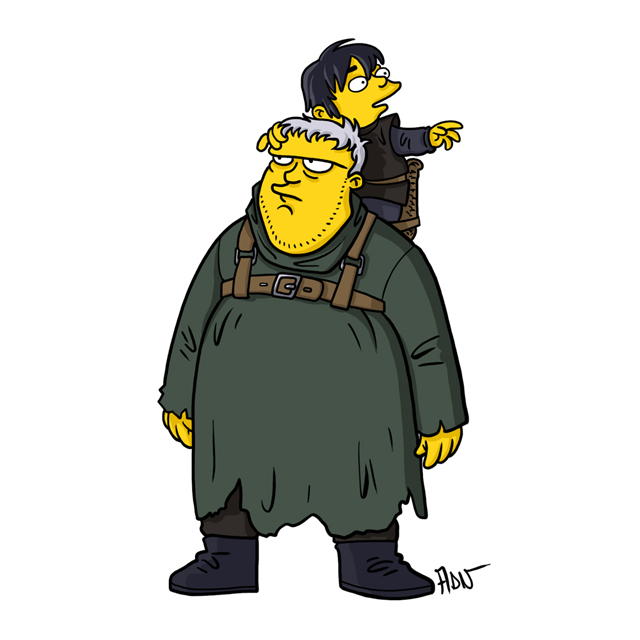 Hodor and Bran Stark
