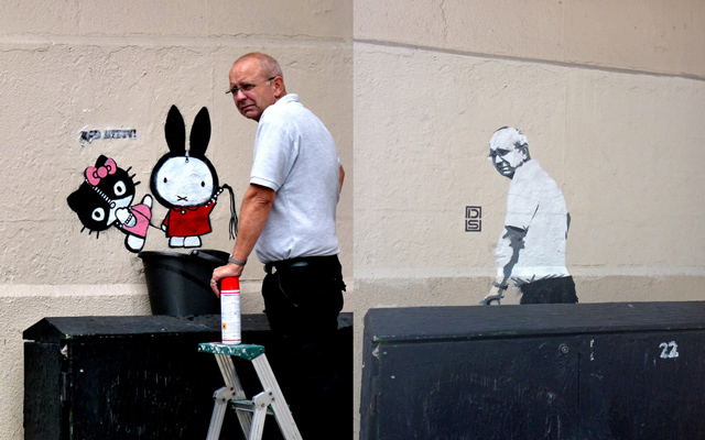 Graffiti Removal Guys Becomes Street Art