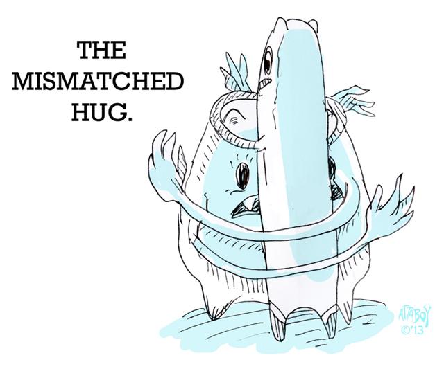Mismatched Hug by Attaboy