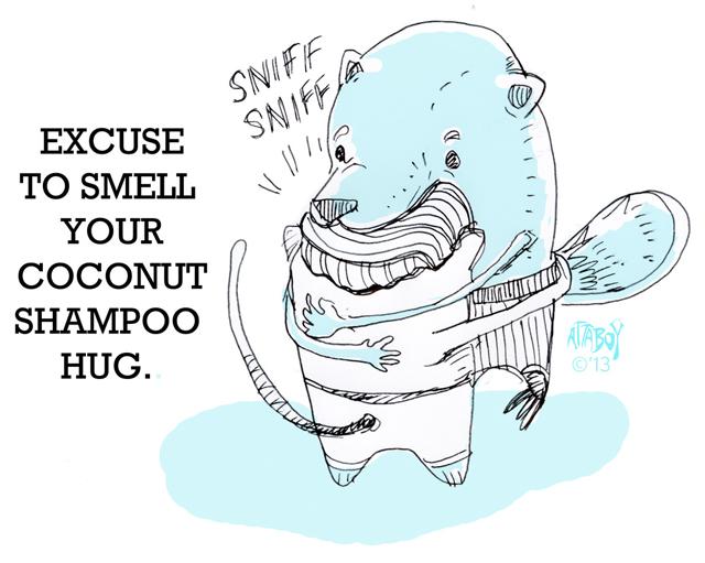 Smell Hair Hug by Attaboy