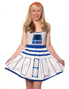 R2D2 Fit and Flare Dress