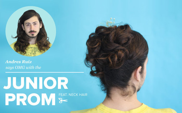 Men With Long Hair Styled Into Fancy Women's Updos