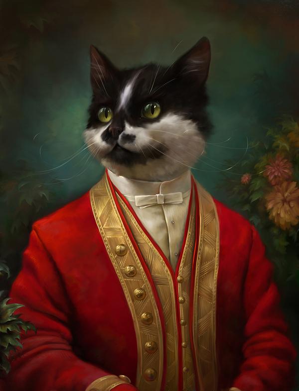 Classical cat portraits
