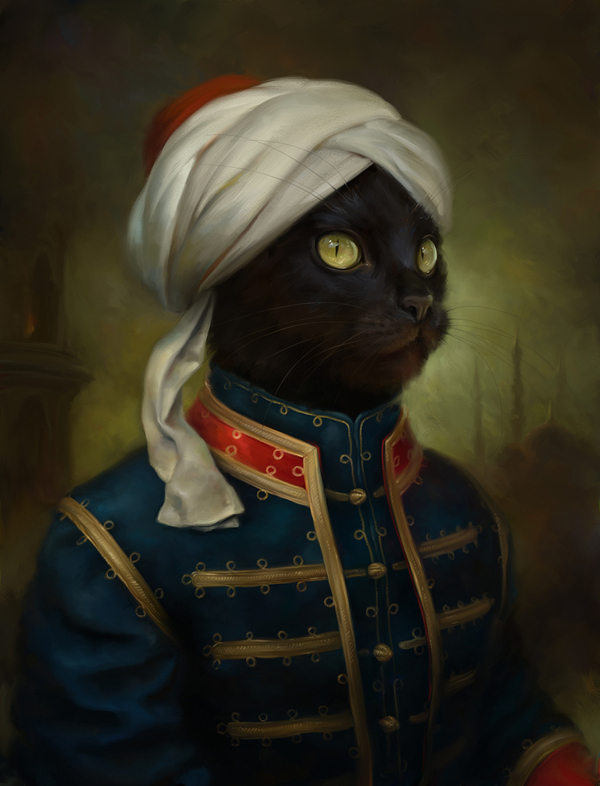 Classical cat portraits