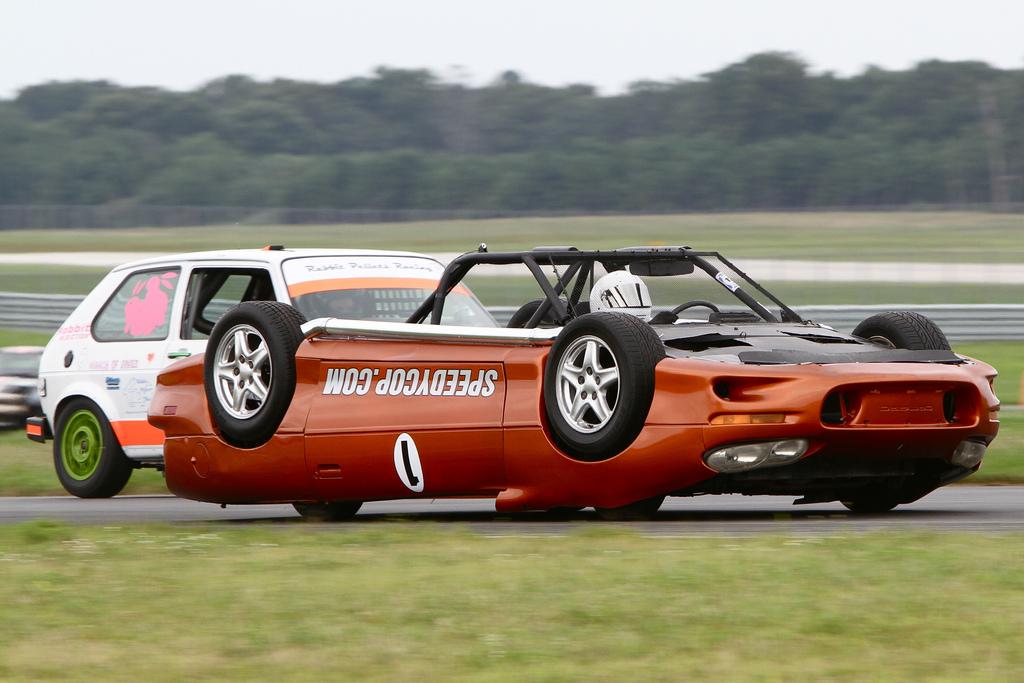 Upside Down Race Car
