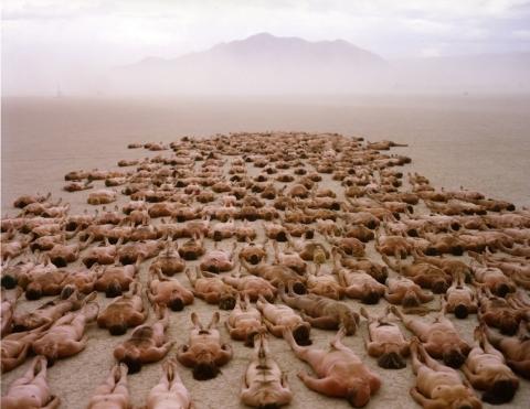 Spencer Tunick Burning Man photo shoot