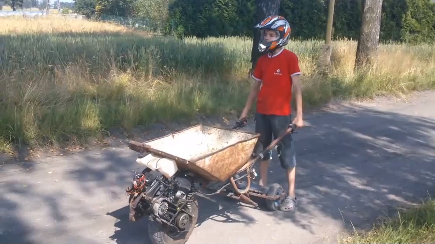 Homemade Motorized Wheelbarrow