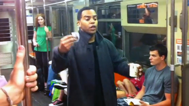 Panhandler Pranks Entire Subway Car