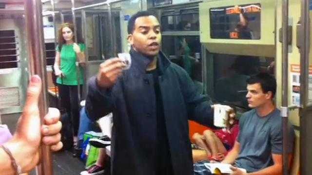 Panhandler Pranks Entire Subway Car