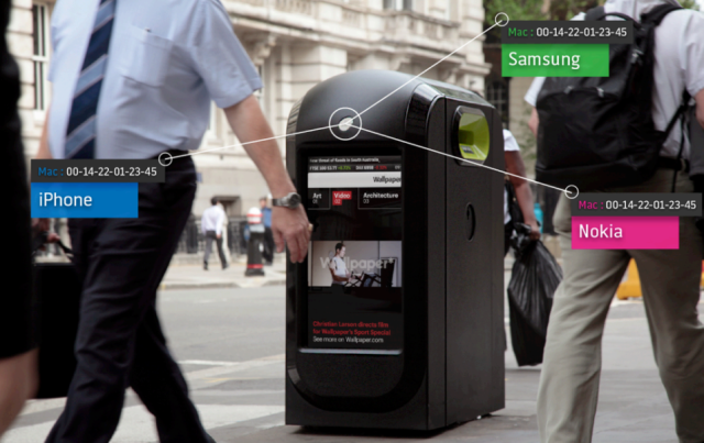 Renew London ad kiosks track pedestrians