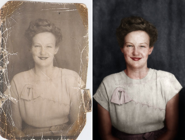 Time-lapse of photo restoration