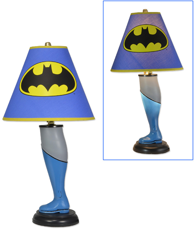 Leg Lamps From A Christmas Story.Batman And Superman Leg Lamps Inspired By A Christmas Story