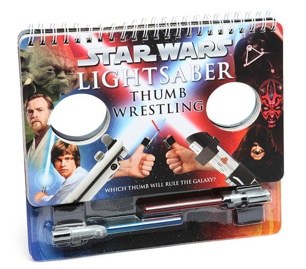 Star Wars Lightsaber Thumb Wrestling, A Book With Tiny Strap-On Thumb Lightsabers
