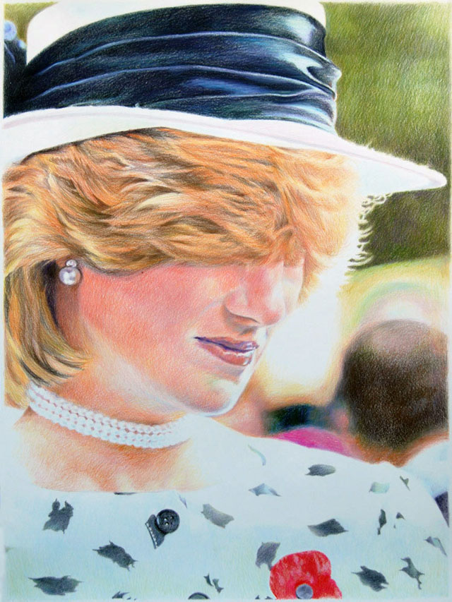 Long bangs portraits by Eric Yahnker