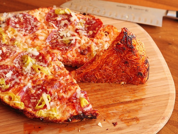 Ramen Crust Pizza