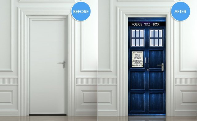 TARDIS Door Decal