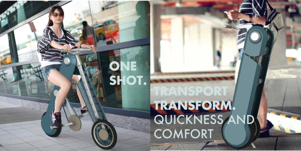 One Shot, Concept Bicycle Folds Into Rolling Case When Not In Use