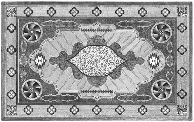 Bic pen rug illustrations by Joe and Nathan