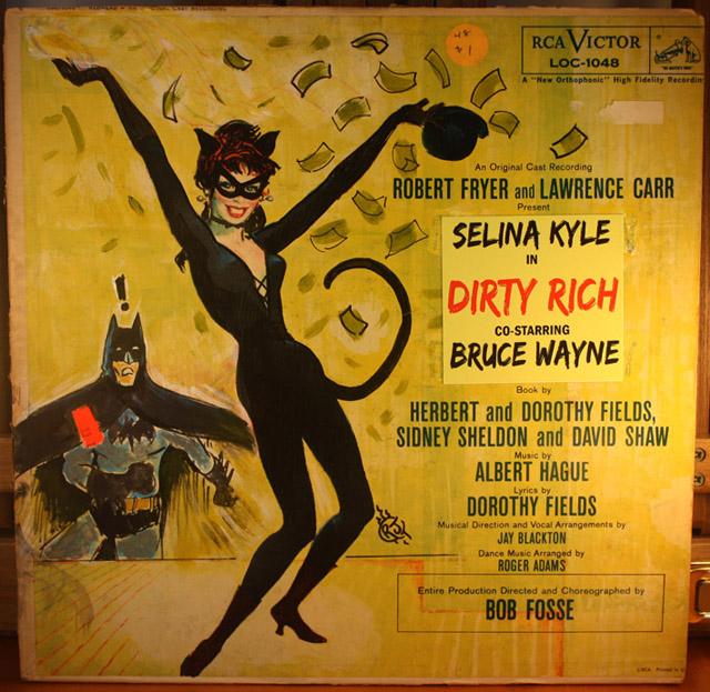 Batman Catwoman LP Painting